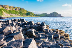 Giants Causeway and cliffs in Northern Ireland Royalty Free Stock Photo
