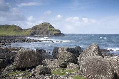 Giants Causeway Coast, County; Antrim Royalty Free Stock Images