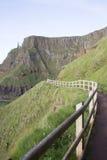 Giants Causeway Coastal Footpath; County Antrim. Northern Ireland, UK royalty free stock image