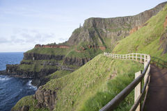 Giants Causeway Coastal Footpath; County Antrim. Northern Ireland, UK royalty free stock photography