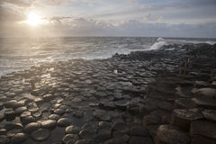 Giants Causeway, County Antrim. Northern Ireland royalty free stock image