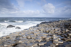 Giants Causeway, County; Antrim. Northern Ireland royalty free stock photos