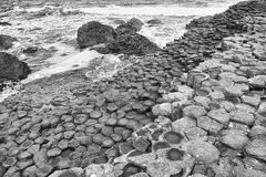 Giants Causeway. The Giant's Causeway is the result of an ancient volcanic eruption and consists of approximately 40,000 interlocking basalt columns. It is stock photos