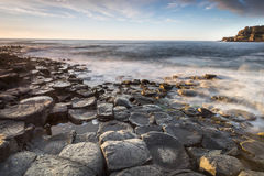 The Giants Causeway National Park coastline Royalty Free Stock Photography
