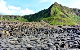Giants causeway ni. Uk place giants causeway peace ni Royalty Free Stock Photo