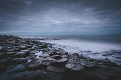 Giants Causeway by night royalty free stock image
