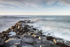 The Giants Causeway in North Ireland Stock Photos