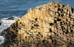 The Giants Causeway Northern Ireland. The most popular tourist destination in Northern Ireland. The strange hexagonal rocks stretch into the sea Royalty Free Stock Image