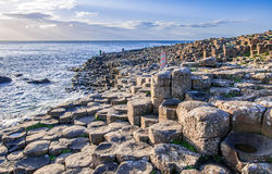 Giants Causeway in Northern Ireland Stock Photos