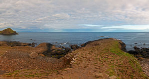 Giants Causeway Panorama from top of Giants Gate Stock Images