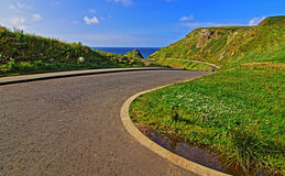 Giants Causeway - Road leading down to Royalty Free Stock Image