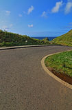 Giants Causeway - Road leading down to Stock Photos