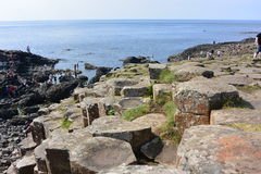 Giants causeway. Uk place giants causeway peace Royalty Free Stock Photography
