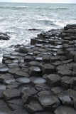 The Giants Causeway. The unusual rocks of the Giants Causeway in Northern Ireland Royalty Free Stock Images