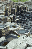 The Giants Causeway. The unusual rocks of the Giants Causeway in Northern Ireland Stock Image