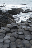 The Giants Causeway. The unusual rocks of the Giants Causeway in Northern Ireland Royalty Free Stock Photo