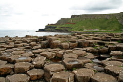 Giants Causeway View. A long view along the North Coast of Ireland from the Giants Causeway Royalty Free Stock Photos