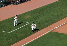 Giants Cody Ross takes long lead from third Stock Image