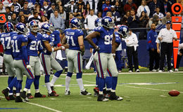 Giants Defense Playing Cowboys Stock Photography