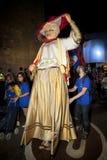 Giants folkloric fiesta. During a Barcelona Festival City on September 23, 2011 in Barcelona, Spain Stock Photo