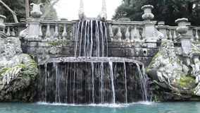 The Giants Fountain In Villa Lante Garden stock footage