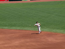 Giants Freddy Sanchez throws ball Stock Photos
