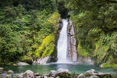 Free Giants Gate Falls At Milford Track Stock Photos - 207282173