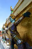 Giants of gilded chedi, Wat Phra Kaew, Thailand Royalty Free Stock Photo