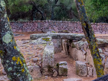 Giants grave, Arzachena, Sardinia. Giants grave (Italian: Tomba dei Giganti). This Sardinian megalithic gallery grave was built during the Bronze Age by the Royalty Free Stock Photography
