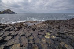 The Giants home. The Giant`s Causeway, Antrim Coast, Ireland stock photo