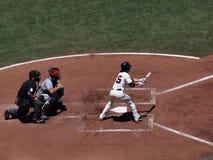 Giants-Krug Tim Lincecum am Hieb versucht mit dem Kopfe zu stoßen Lizenzfreie Stockbilder