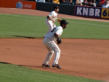Giants Middle infielders stand ready for play Royalty Free Stock Photography