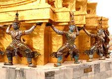 Giants and pagoda thai Stock Image