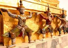 Giants and pagoda thai Royalty Free Stock Photos