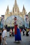 Giants Parade in Barcelona La Mercè Festival  2013 Royalty Free Stock Photo
