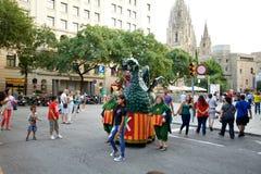 Giants Parade in Barcelona La Mercè Festival  2013. Barcelona La Mercè Festival  2013. Giants Parade in Barcelona Royalty Free Stock Photography