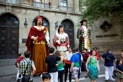 Giants Parade in Barcelona La Mercè Festival  2013 Stock Photos