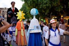 Giants Parade in Barcelona La Mercè Festival  2013 Stock Photography