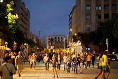 Giants Parade in Barcelona La Mercè Festival  2013 Royalty Free Stock Photos