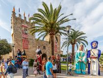 Giants parade at Fira d`Alcudia Stock Images