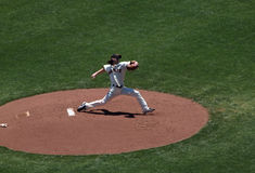 Giants pitcher Tim Lincecum in pitching motion Royalty Free Stock Photo