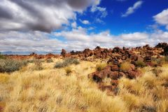 Giants Playground (Namibia) Royalty Free Stock Photography