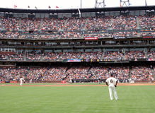 Giants stand around during homerun trot Stock Photography