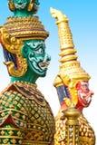 Giants-Statue im Tempel, Generalily in Thailand, irgendeine Art Kunst verziert in der buddhistischen Kirche. Sie sind public domai Stockfoto