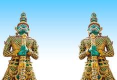 Giants-Statue im Tempel, Generalily in Thailand, irgendeine Art Kunst verziert in der buddhistischen Kirche. Sie sind public domai Lizenzfreie Stockbilder