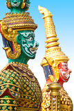 Giants statue in the temple, Generalily in Thailand, any kind of art decorated in Buddhist church. They are public domain or treas Stock Photo