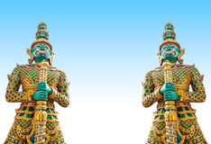 Giants statue in the temple, Generalily in Thailand, any kind of art decorated in Buddhist church. They are public domain or treas Royalty Free Stock Images