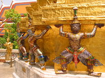 Giants, Wat Phra Kaew, Bangkok, Thailand. Wat Phra Kaew in Royal Palace, Bangkok royalty free stock photos