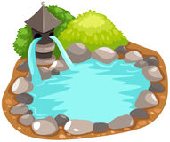 Giapponese della fontana Immagini Stock