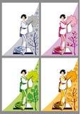 Giapponese postale Fotografia Stock